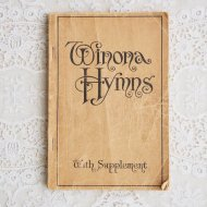 アンティーク アメリカ 洋書 楽譜 Winona Hymns / 古書 ブック