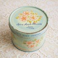 Spicy Apple Blossom ベビーブルー フラワー ボディーパウダー ティン缶