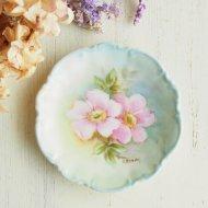 ピンクの野バラ ワイルドローズ ミニプレート
