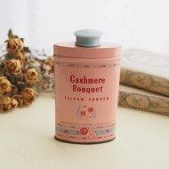 Cashmere Bouquet ピンク&ブルー お花模様 タルクパウダー缶  ティン