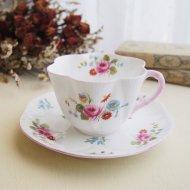イギリス Shelley シェリー ピンクローズ 薔薇 フラワー カップ&ソーサー / アンティーク・ヴィンテージ雑貨