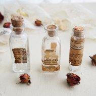 古い小さな薬瓶 ミニガラスボトル 3点セット