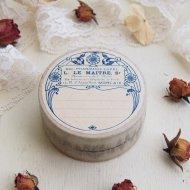 ブルーのお花模様の紙箱 ペーパーボックス Sサイズ-A