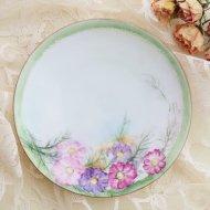 ドイツ ババリア ピンク&パープル お花のミニプレート