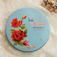 Lady Margaret Chocolate レッドローズ 赤い薔薇のティン缶 ボックス / アンティーク・ヴィンテージ雑貨