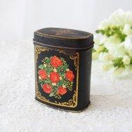 【カナダ発送】レッドローズ 薔薇模様 ティン缶 / アンティーク・ヴィンテージ雑貨