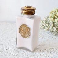 【カナダ発送】PALMER'S GARDENGLO お花模様のラベルが素敵なタルクパウダーボトル ピンク / アンティーク・ヴィンテージ雑貨