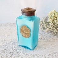 【カナダ発送】PALMER'S GARDENGLO お花模様のラベルが素敵なタルクパウダーボトル ブルー / アンティーク・ヴィンテージ雑貨