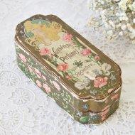 【カナダ発送】WOODWORTH'S PERFUMES ピンクの薔薇と淑女 古い紙箱 / アンティーク・ヴィンテージ雑貨