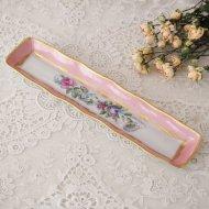 フランス フラワー ピンク お花模様のジュエリートレイ / アンティーク・ヴィンテージ雑貨
