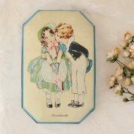 Sweethearts スィートハート 可愛いカップルのティン缶  / アンティーク・ヴィンテージ雑貨