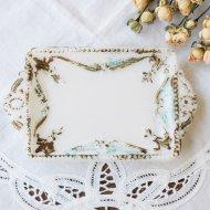エレガントなミルクガラスのミニプレート ジュエリートレイ / アンティーク・ヴィンテージ雑貨