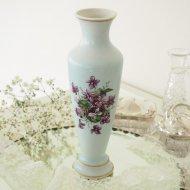 スミレ バイオレット ブルー 花瓶  / アンティーク・ヴィンテージ雑貨