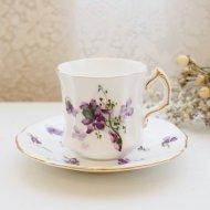 イギリス ハマースレイ ビクトリアンバイオレット スミレ カップ&ソーサー / アンティーク・ヴィンテージ雑貨