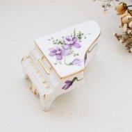 イギリス ハマースレイ ビクトリアンバイオレット スミレ グランドピアノの置物 / アンティーク・ヴィンテージ雑貨