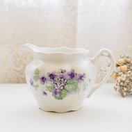 Bavaria スミレ模様のクリーマー 花瓶 / アンティーク・ヴィンテージ雑貨