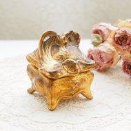 ジュエリーケース・ボックス フラワー お花模様の宝石箱 / アンティーク・ヴィンテージ雑貨