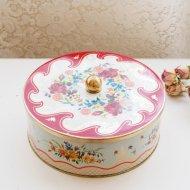 イギリス 薔薇・パンジー・すみれ いろいろお花のティン缶 / アンティーク・ヴィンテージ雑貨