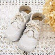 白いベビーシューズ 紐靴 / アンティーク・ヴィンテージ雑貨