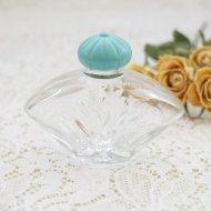 グリーンの蓋のミニパフュームボトル 香水瓶 / アンティーク・ヴィンテージ雑貨