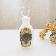 AZURSA ブルーフラワー パフュームボトル 香水瓶 / アンティーク・ヴィンテージ雑貨