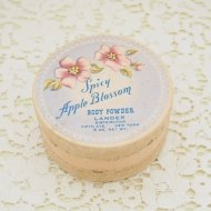 Spicy Apple Bloom お花模様のパウダーボックス 紙箱 / アンティーク・ヴィンテージ雑貨