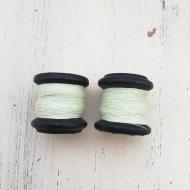 ヴィンテージ 木製 糸巻き ライトグリーン 1個 / ヴィンテージ ハンドメイドアクセサリーパーツ