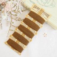 フランス 紙製糸巻き LAINE ST. PIERRE ブラウン / ヴィンテージ ハンドメイドアクセサリーパーツ