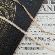 フランス フラワー レース 100cm リボン トリム 生成 ベージュ エクリュ / ヴィンテージ ハンドメイド素材
