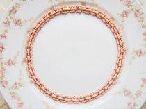 ゴールドトーン ピンクの雫 ネックレス