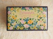 Schrafft's Chocolates New York Boston  お花模様のティン缶