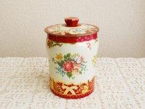 George W. Horner & Co., Ltd レッド フラワー&ローズ 薔薇とお花のティン缶