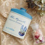 Blue Hyacinth Talcum Powder ブルーヒヤシンスのパウダー缶  ティン