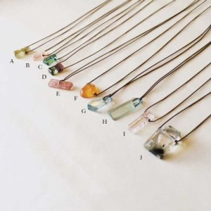 【source:Margaret Solow 】 Stone Necklace(limited)