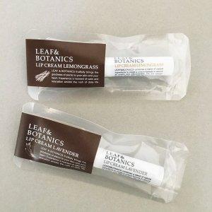 松山油脂LEAF&BOTANICS リップクリーム(ラベンダー/グレープフルーツ)