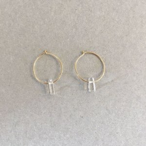 【source:Margaret Solow 】Tumbled Crystal Hoops