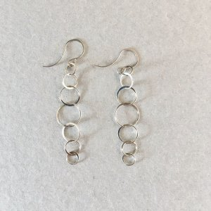 【source:Melissa Joy Manning】Silver Chain Earrings(long)