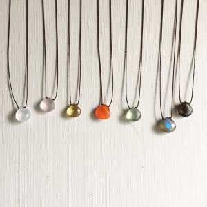 【source:Margaret Solow 】Faceted Stone Necklace