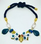 <img class='new_mark_img1' src='https://img.shop-pro.jp/img/new/icons14.gif' style='border:none;display:inline;margin:0px;padding:0px;width:auto;' />Vintage Leo Choker -Blue-