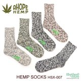 GOHEMP『HEMP SPLASH PATTERN CREW SOCKS』ヘンプソックス