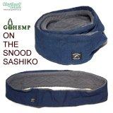 GOHEMP『ON THE SNOOD/SASHIKO』刺し子/スヌード/マフラー