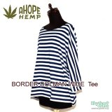 A HOPE HEMP『BORDER DOLMAN WIDE Tee』【NAVY】