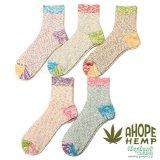 A HOPE HEMP「HEMP SOCKS」【HSX-219】ヘンプソックス