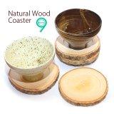 ナチュラルウッドコースター/天然木/木製コースター