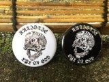 神眼芸術『Tibetan skull』BUTTUN 2 缶バッチセット(ステッカー付)