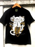 神眼芸術『Lucky cat』T-shirt Black