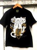 神眼芸術『Lucky cat』T-shirt Black