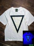 神眼芸術『Triangle』T-shirt (White) Glow in the Dark
