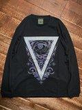 神眼芸術『Triangle』Long sleeve T-shirt (Black)