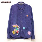 <img class='new_mark_img1' src='https://img.shop-pro.jp/img/new/icons41.gif' style='border:none;display:inline;margin:0px;padding:0px;width:auto;' />【30%OFF!!】GOWEST×flowerman『OLD WORKERS SHIRTS / SKULL BATIC』